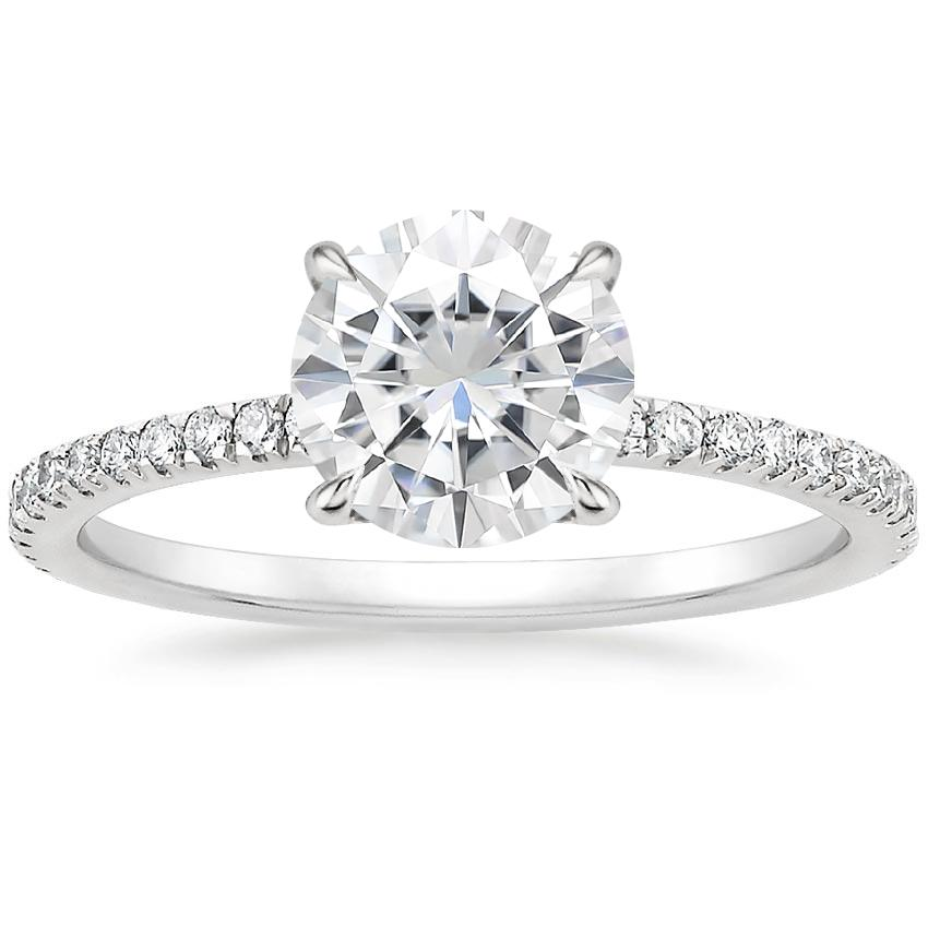 Moissanite Viviana Diamond Ring (1/3 ct. tw.) in 18K White Gold