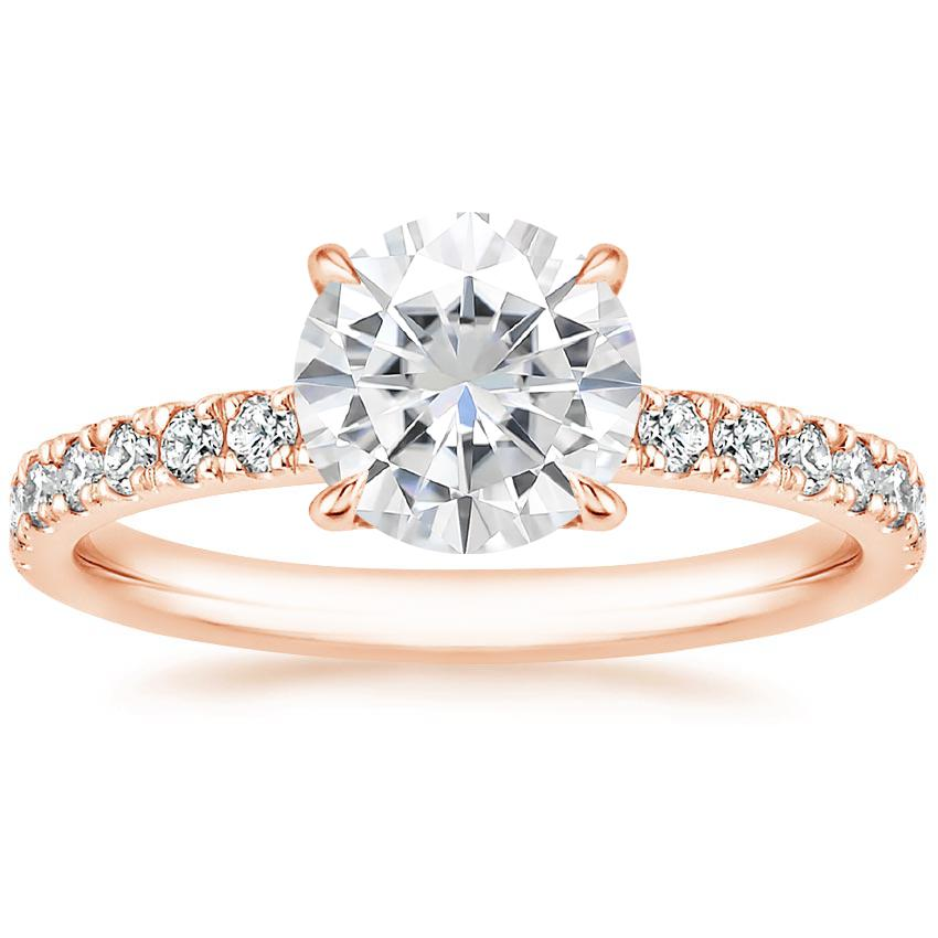 Rose Gold Moissanite Clara Diamond Ring