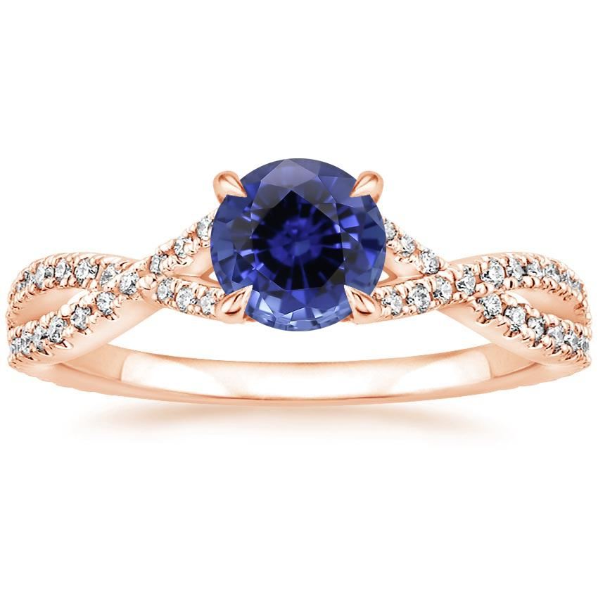 Rose Gold Sapphire Chloe Diamond Ring (1/4 ct. tw.)