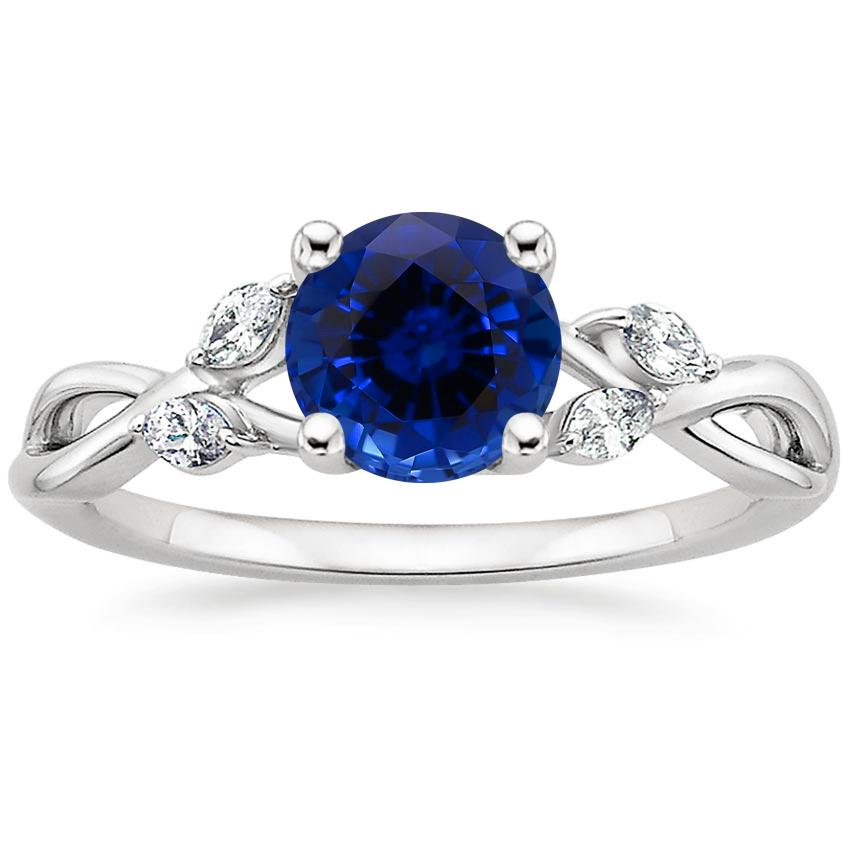 Sapphire Willow Diamond Ring (1/8 ct. tw.) in 18K White Gold