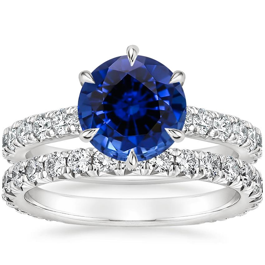 18KW Sapphire Luxe Sienna Diamond Bridal Set (1 1/8 ct. tw.), top view