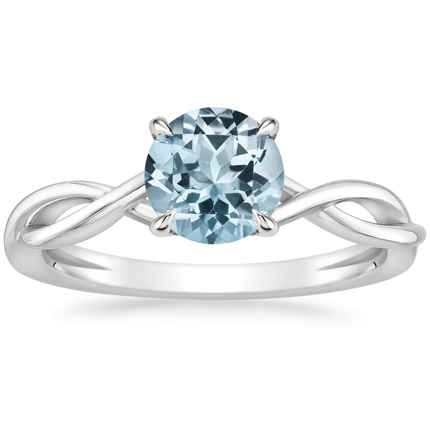 Aquamarine Ayla Ring in 18K White Gold