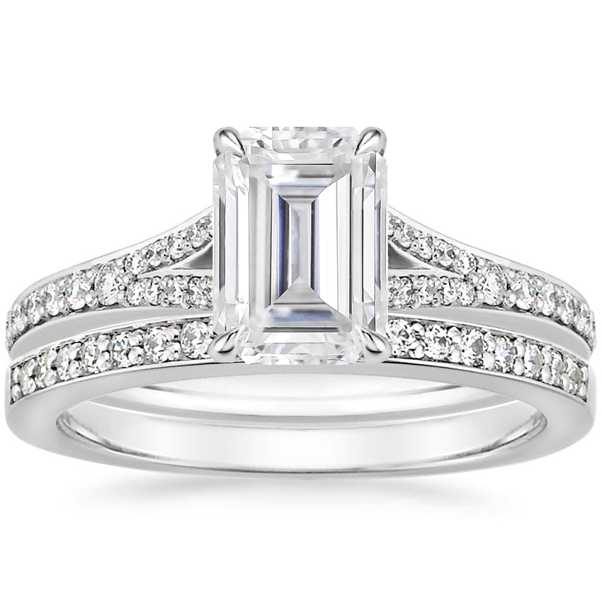 PT Moissanite Duet Diamond Bridal Set (1/3 ct. tw.), top view
