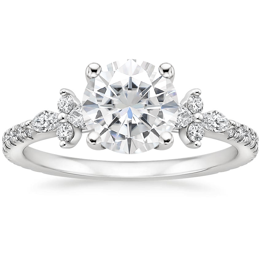 Moissanite Iris Diamond Ring (1/3 ct. tw.) in 18K White Gold
