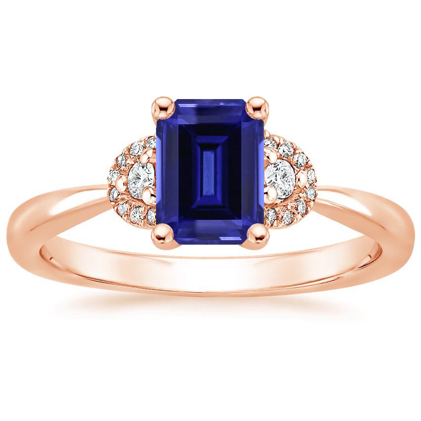 Rose Gold Sapphire Lorelai Diamond Ring