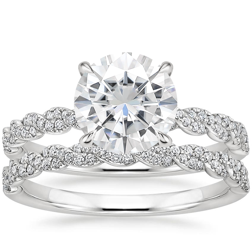 PT Moissanite Cadence Diamond Bridal Set, top view
