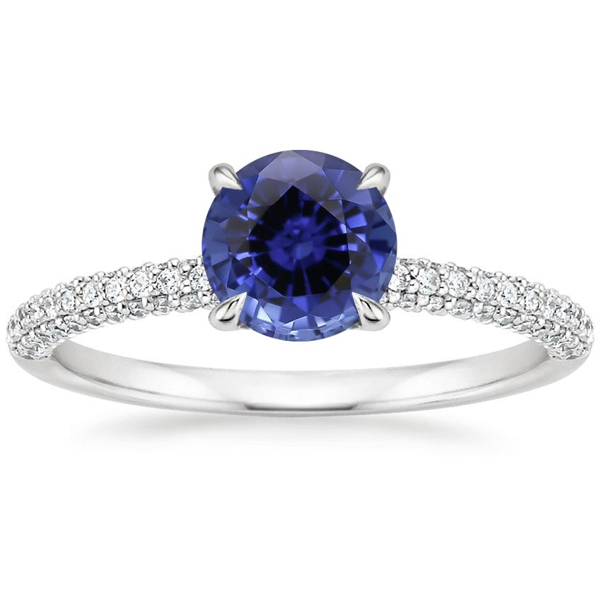 Sapphire Valencia Diamond Ring (1/3 ct. tw.) in 18K White Gold