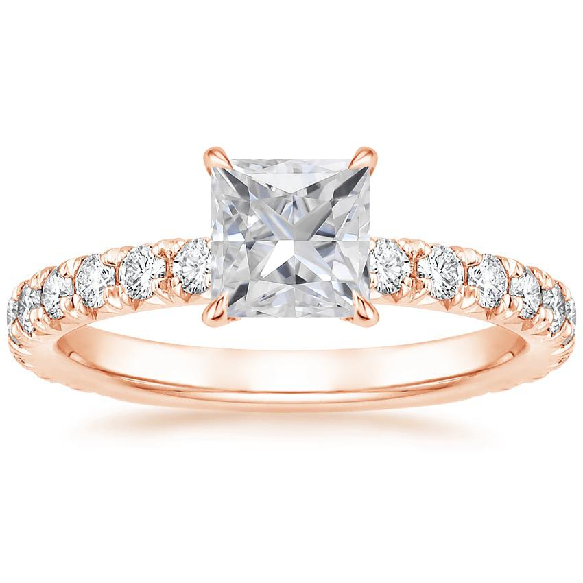 Rose Gold Moissanite Olympia Diamond Ring