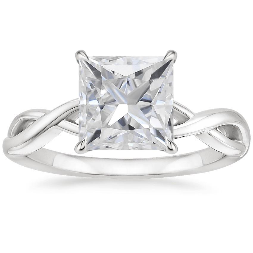 Moissanite Eden Diamond Ring in 18K White Gold