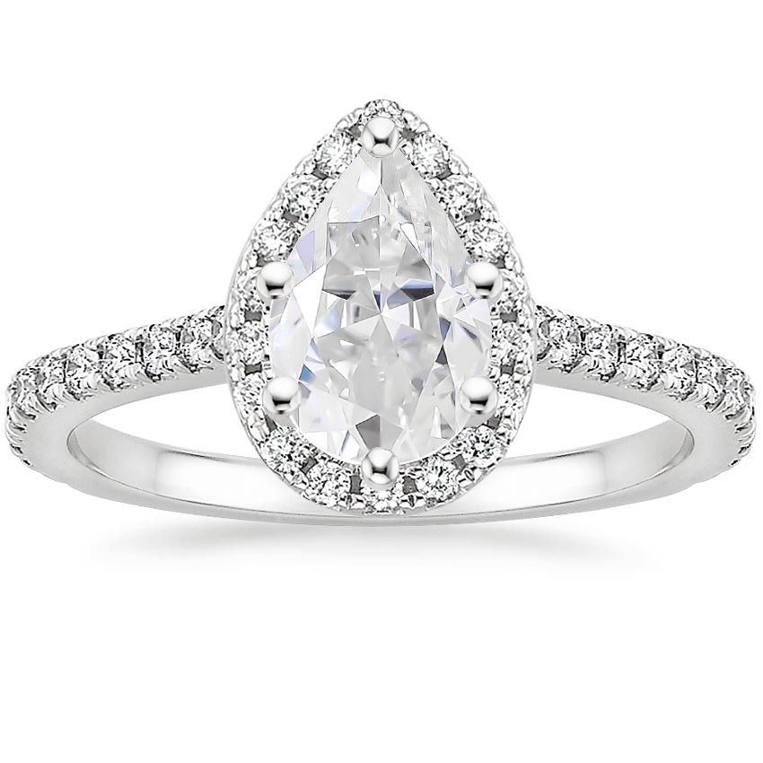 Moissanite Luxe Odessa Diamond Ring (1/3 ct. tw.) in Platinum