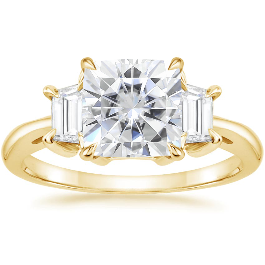 Yellow Gold Moissanite Embrace Diamond Ring