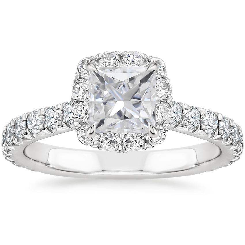 Moissanite Estelle Diamond Ring (3/4 ct. tw.) in Platinum