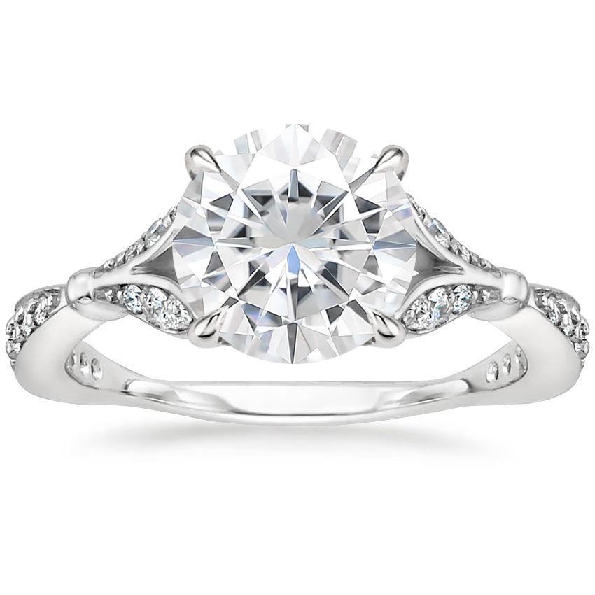 Moissanite Zinnia Diamond Ring (1/3 ct. tw.) in Platinum