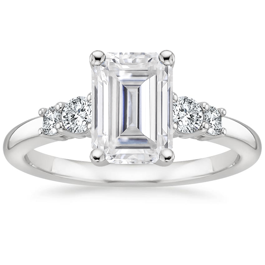 Moissanite Rialto Diamond Ring (1/4 ct. tw.) in Platinum