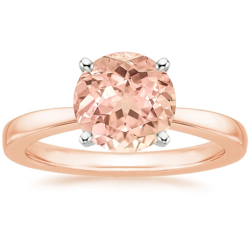 Rose Gold Lab Created Sapphire Petite Taper Ring