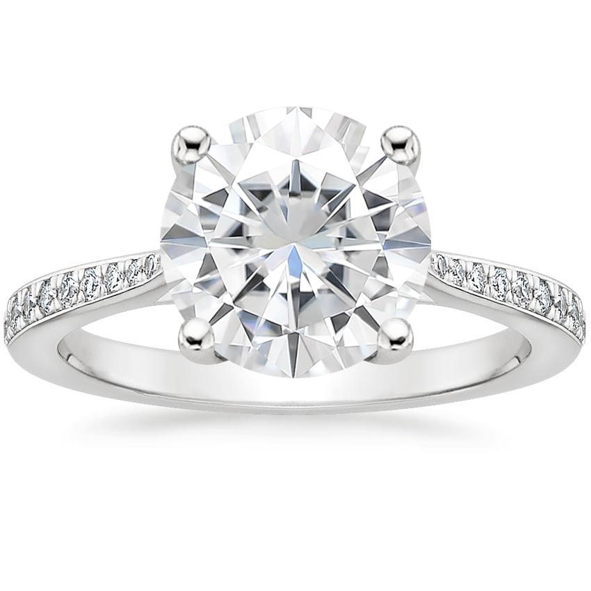 Moissanite Geneva Diamond Ring in Platinum