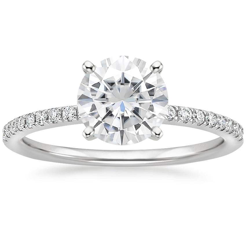Moissanite Ballad Diamond Ring (1/8 ct. tw.) in Platinum