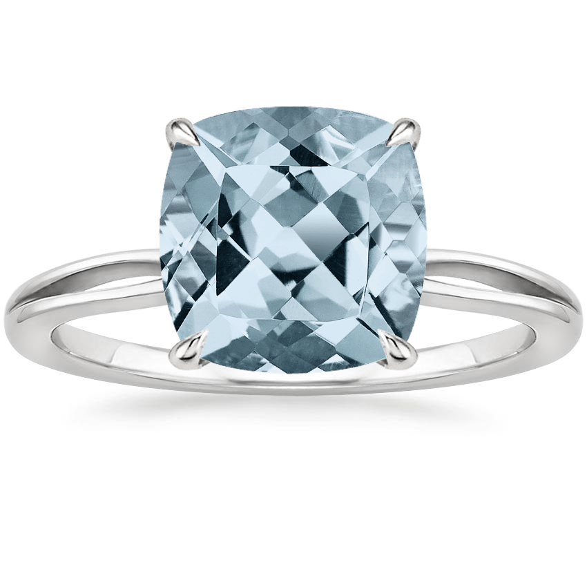 Aquamarine Kalina Ring in Platinum