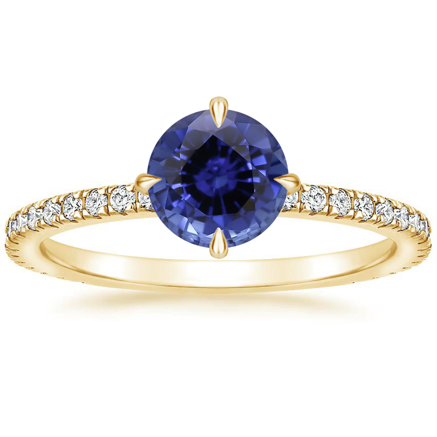 Yellow Gold Sapphire Polaris Diamond Ring