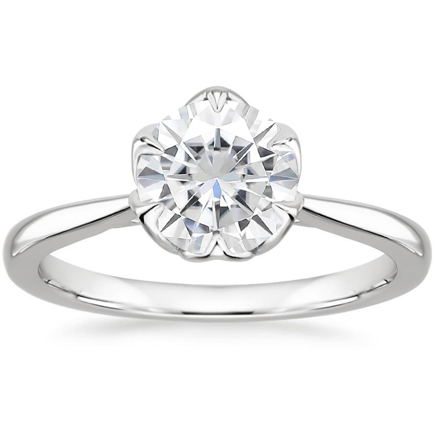 Moissanite Caliana Ring in 18K White Gold