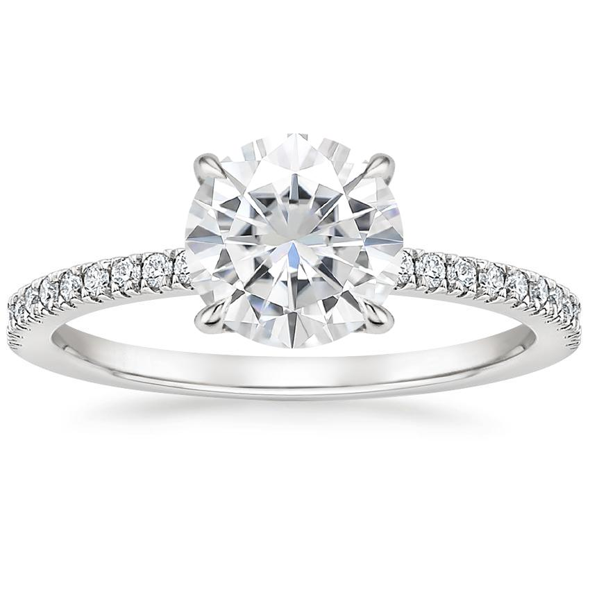 Moissanite Viviana Diamond Ring (1/4 ct. tw.) in 18K White Gold