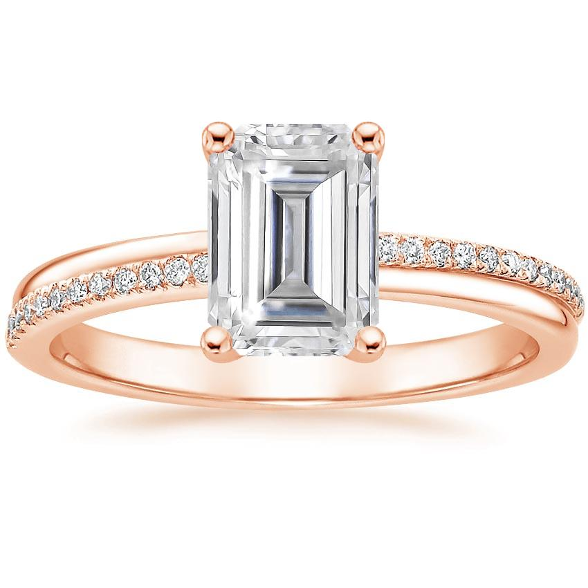 Rose Gold Moissanite Symphony Diamond Ring