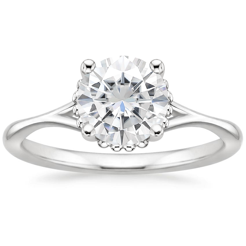 Moissanite Cava Ring in 18K White Gold