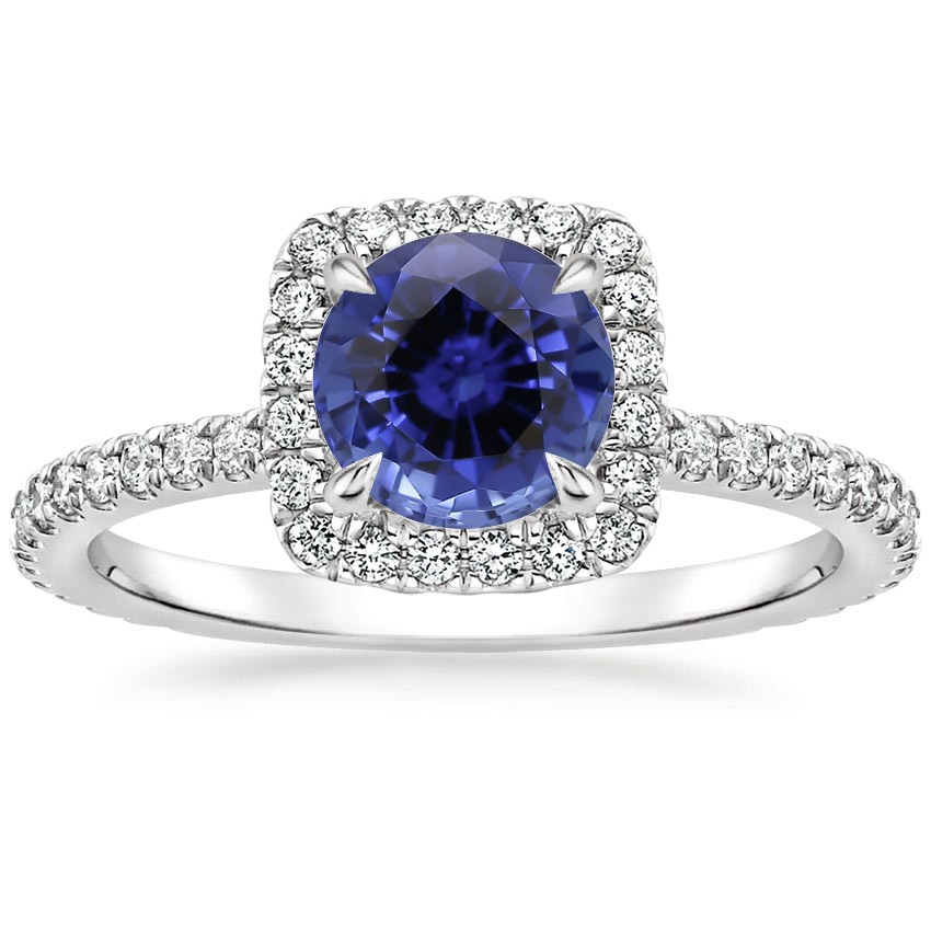 Sapphire Giselle Diamond Ring (1/2 ct. tw.) in 18K White Gold