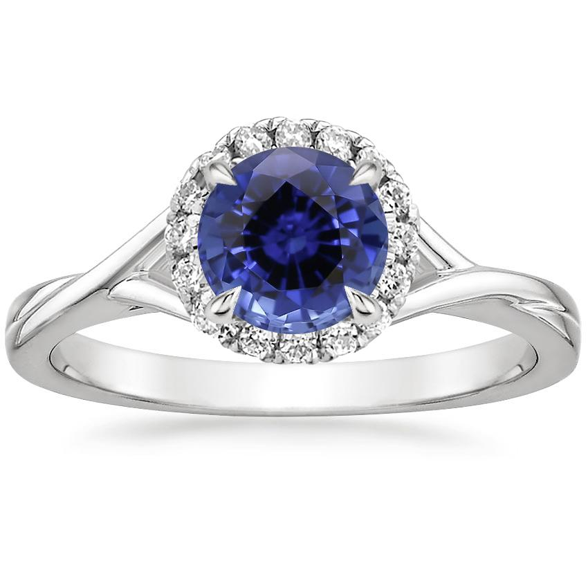 Sapphire Serendipity Diamond Ring in 18K White Gold
