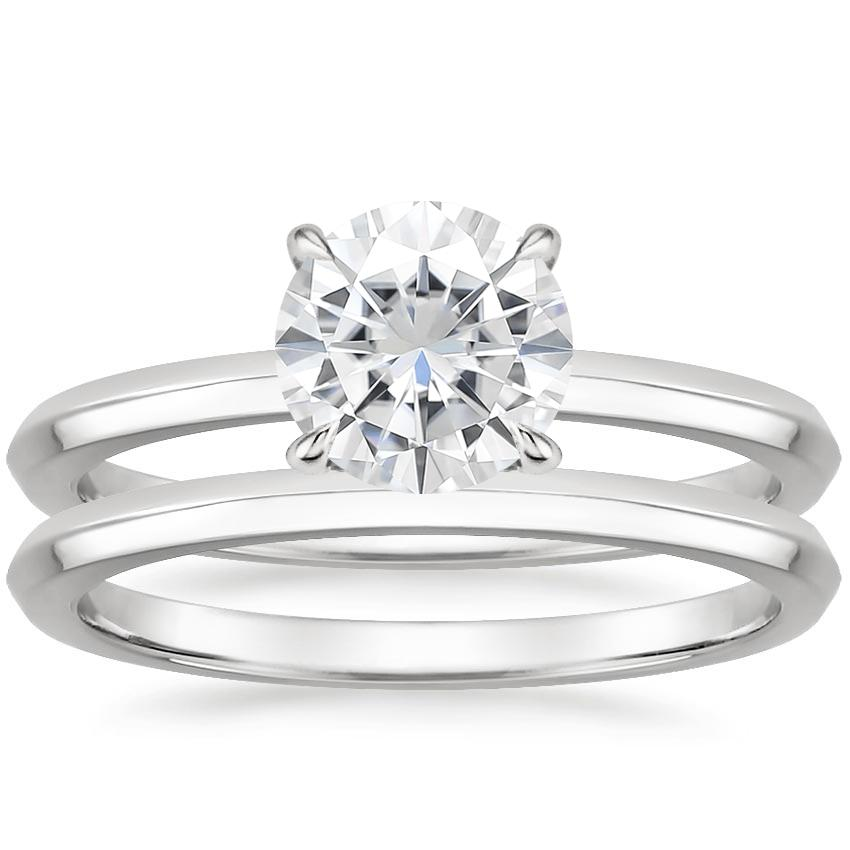 18KW Moissanite Hazel Bridal Set, top view