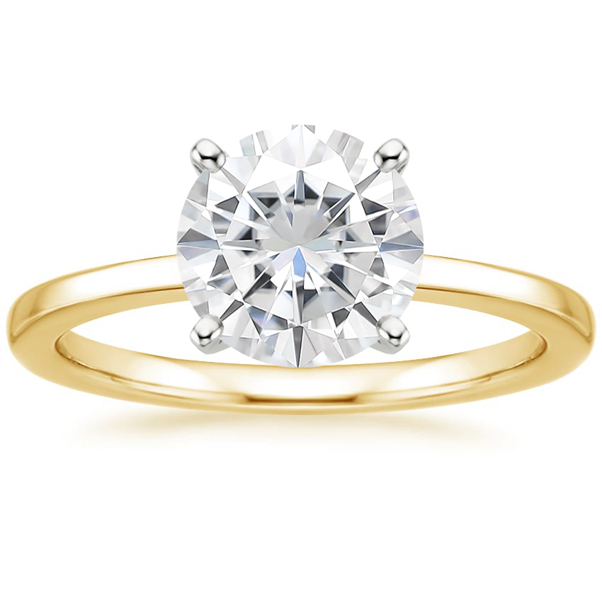 Yellow Gold Moissanite Petite Quattro Ring