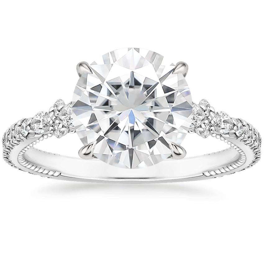 Moissanite Primrose Diamond Ring in Platinum