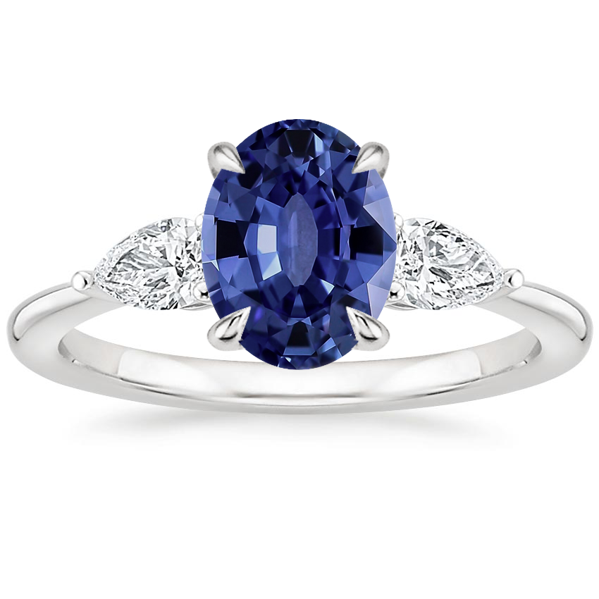 Sapphire Opera Diamond Ring in Platinum