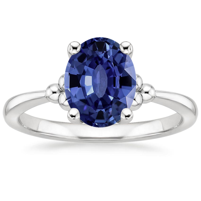Sapphire Soiree Ring in 18K White Gold