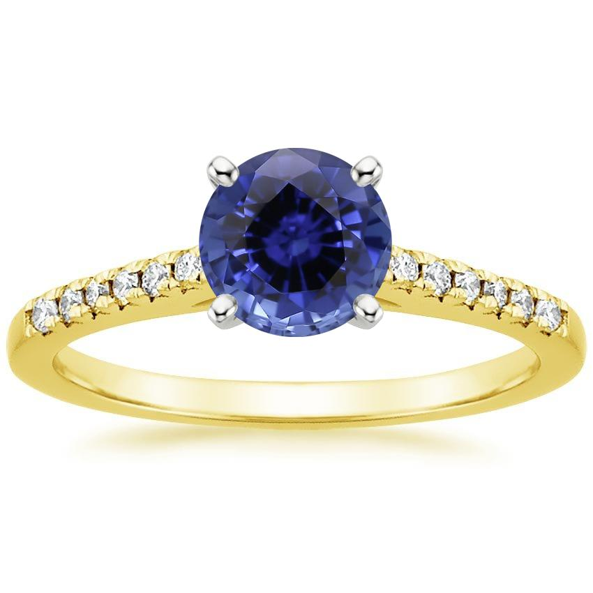 Yellow Gold Sapphire Sonora Diamond Ring