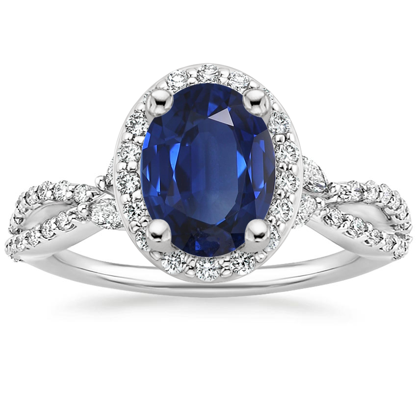 Sapphire Luxe Willow Halo Diamond Ring (2/5 ct. tw.) in Platinum