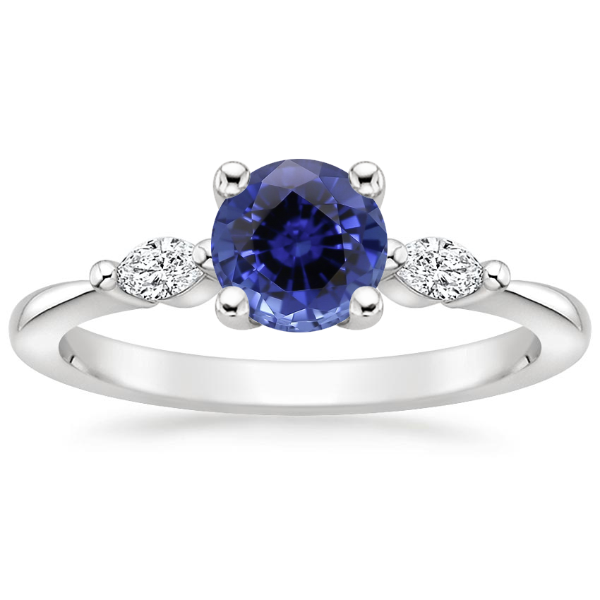 Sapphire Gia Diamond Ring in Platinum
