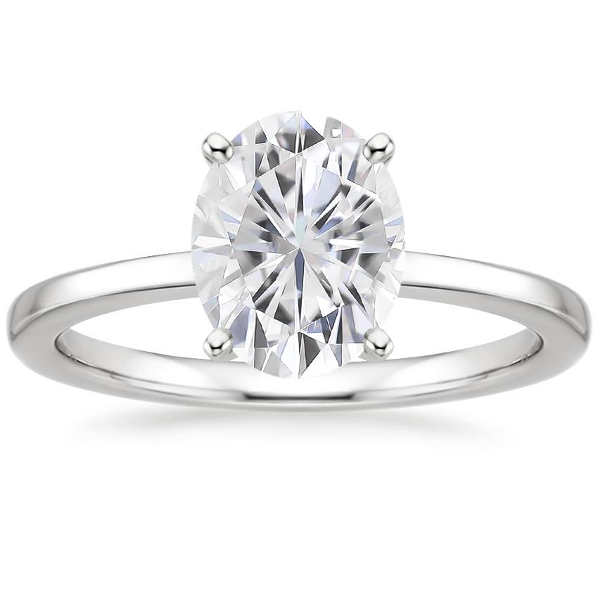 Moissanite Petite Quattro Ring in Platinum
