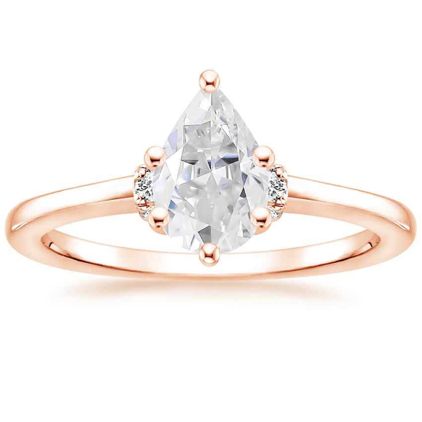 Rose Gold Moissanite Leighton Diamond Ring