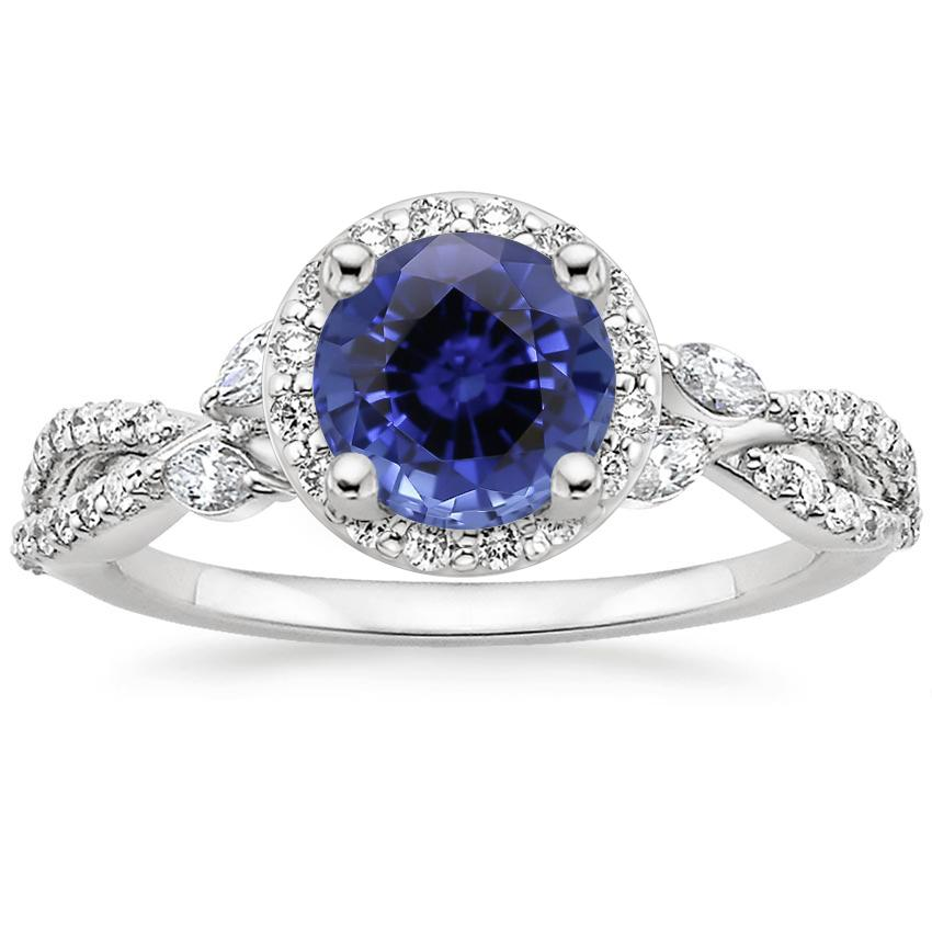 Sapphire Luxe Willow Halo Diamond Ring (2/5 ct. tw.) in 18K White Gold