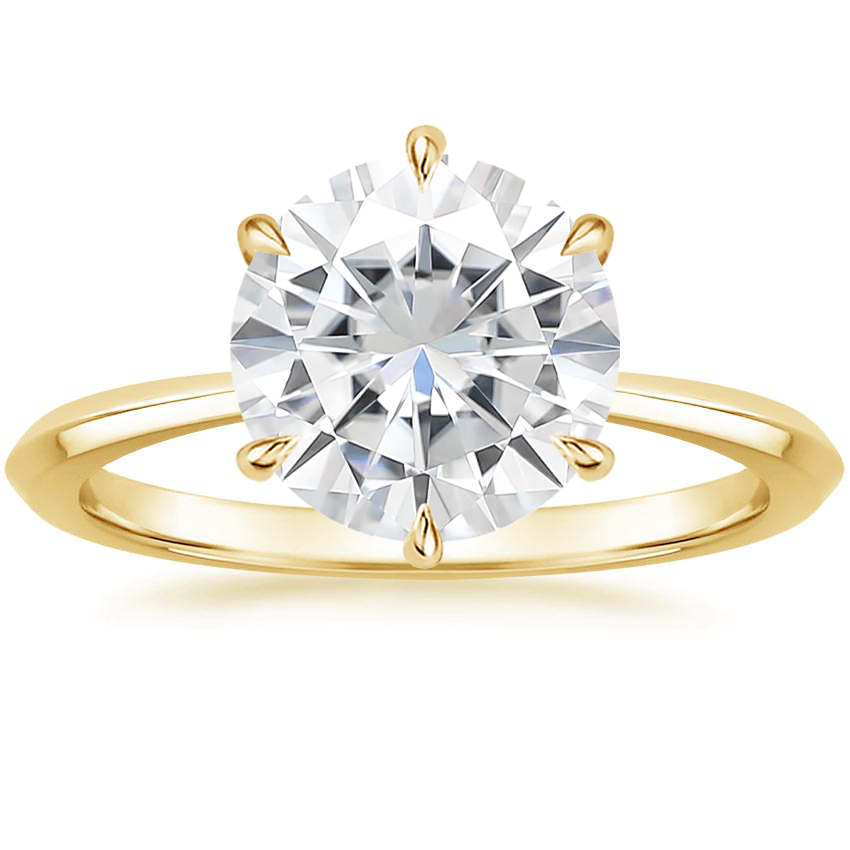 Yellow Gold Moissanite Channing Ring