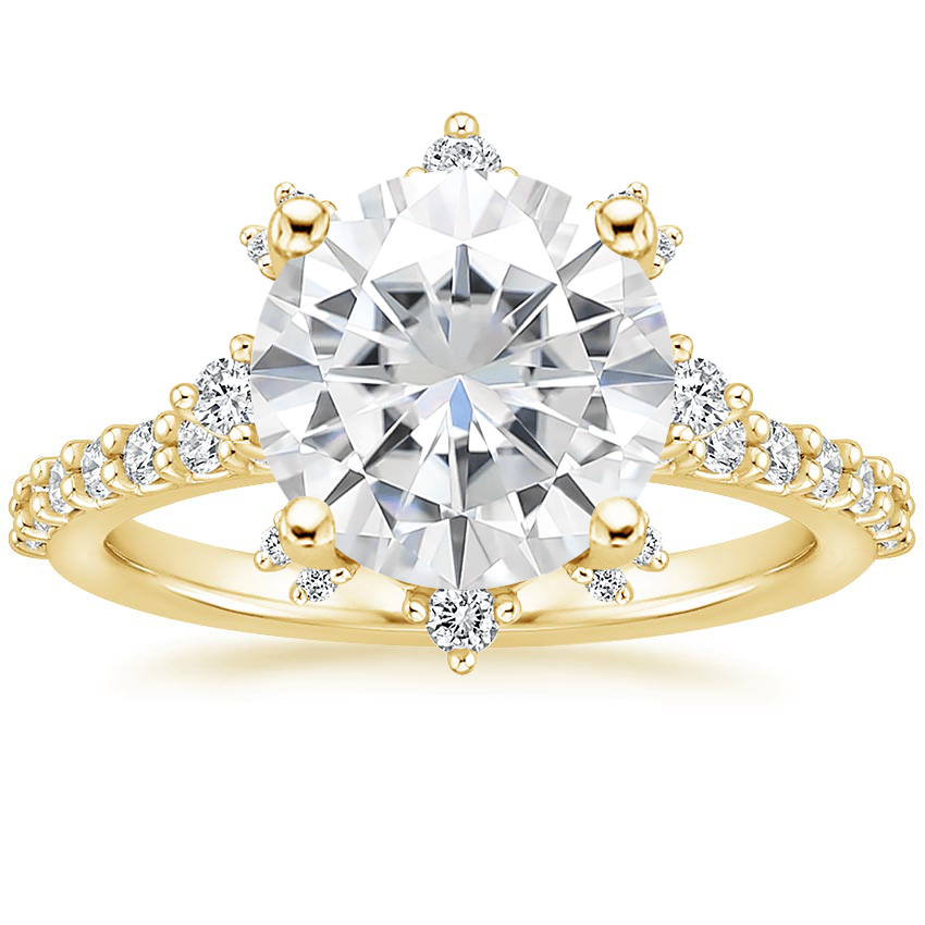 Yellow Gold Moissanite Arabella Diamond Ring (1/3 ct. tw.)