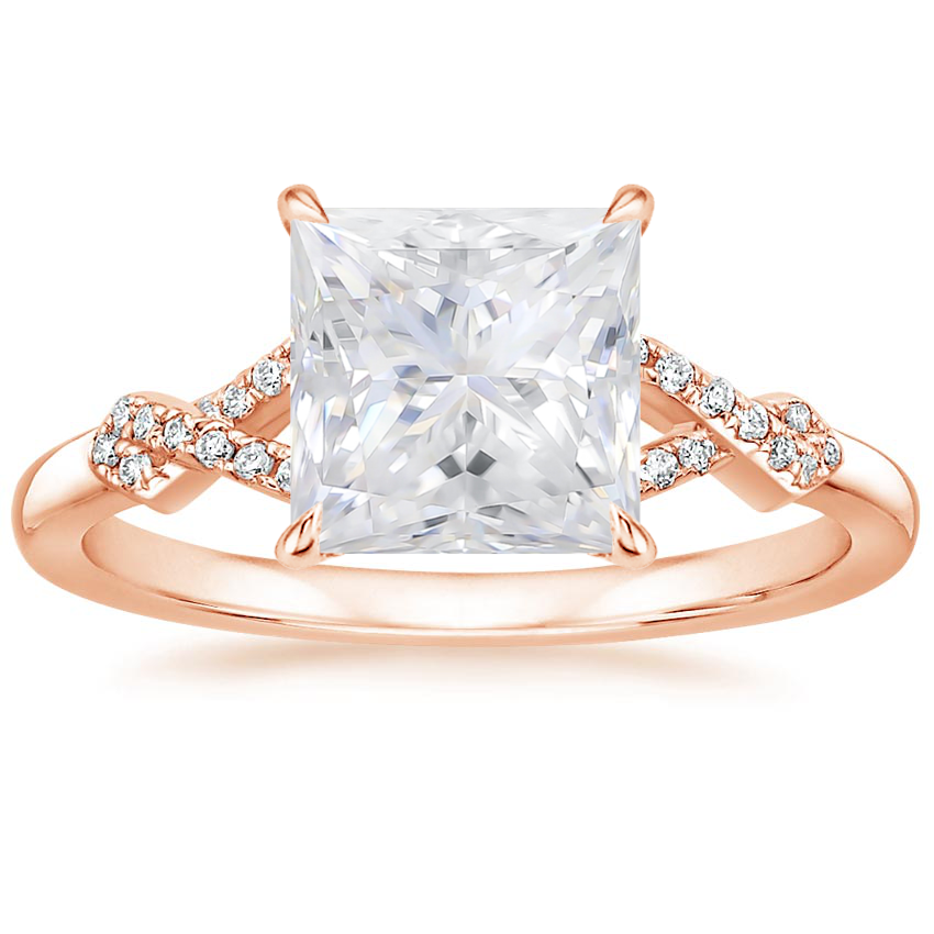 Rose Gold Moissanite Vera Diamond Ring