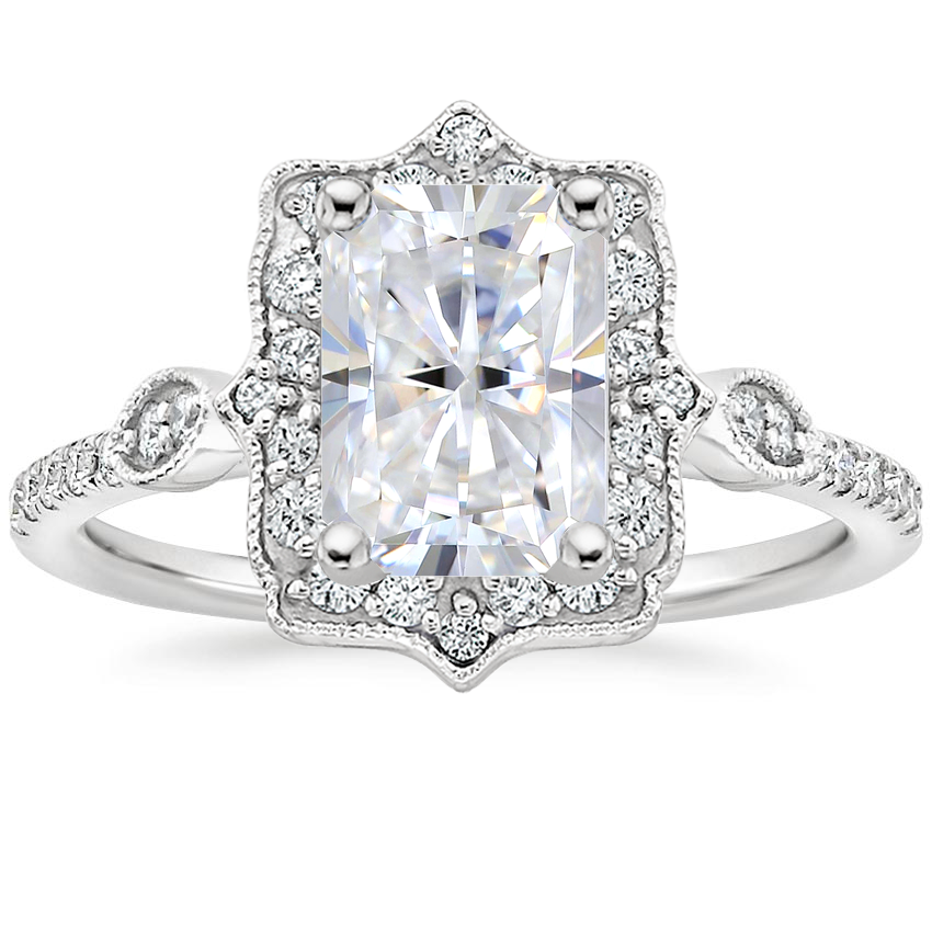 Moissanite Cordelia Diamond Ring (1/4 ct. tw.) in 18K White Gold