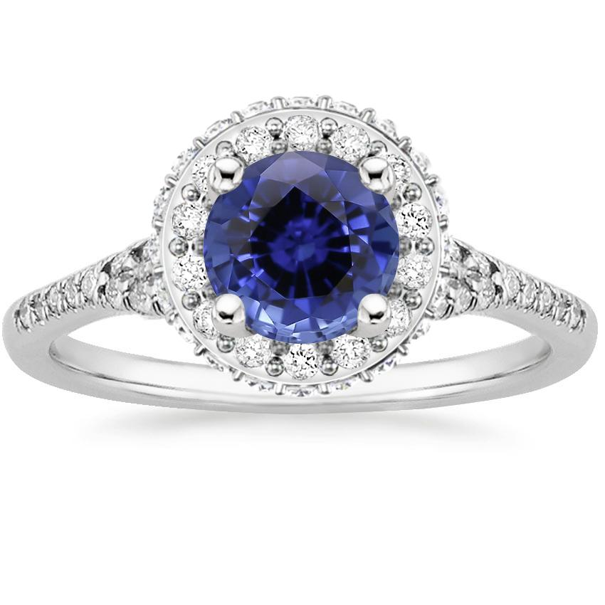 Sapphire Circa Diamond Ring (1/2 ct. tw.) in 18K White Gold
