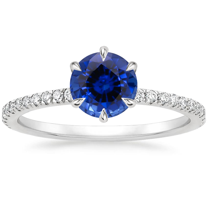 Sapphire Karina Diamond Ring (1/3 ct. tw.) in 18K White Gold