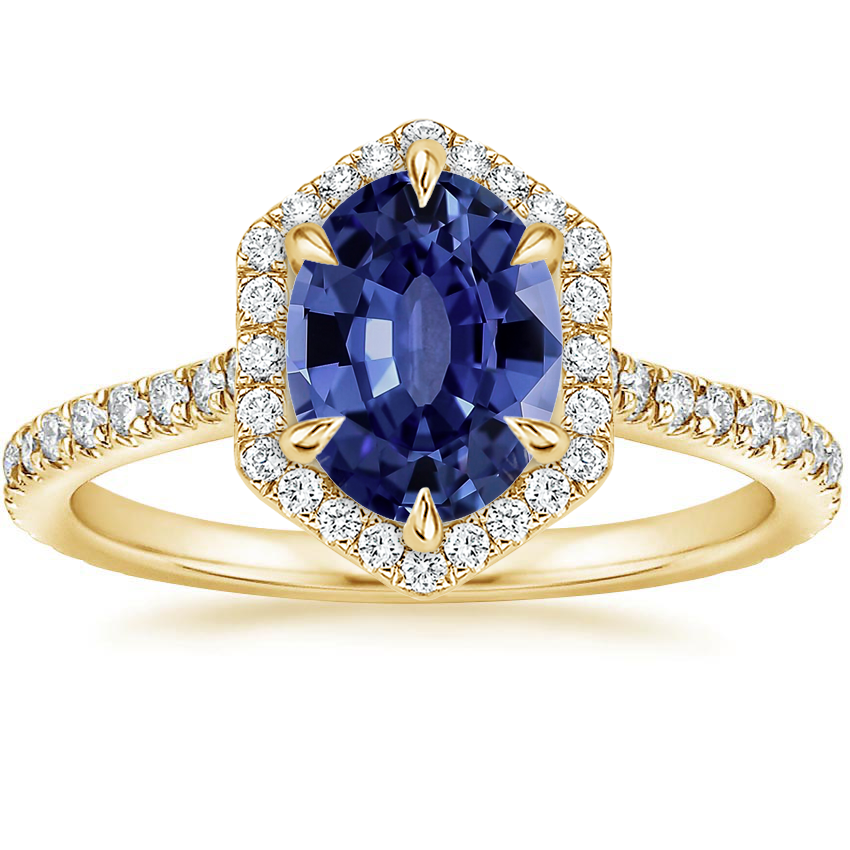Yellow Gold Sapphire Sonnet Diamond Ring (1/3 ct. tw.)