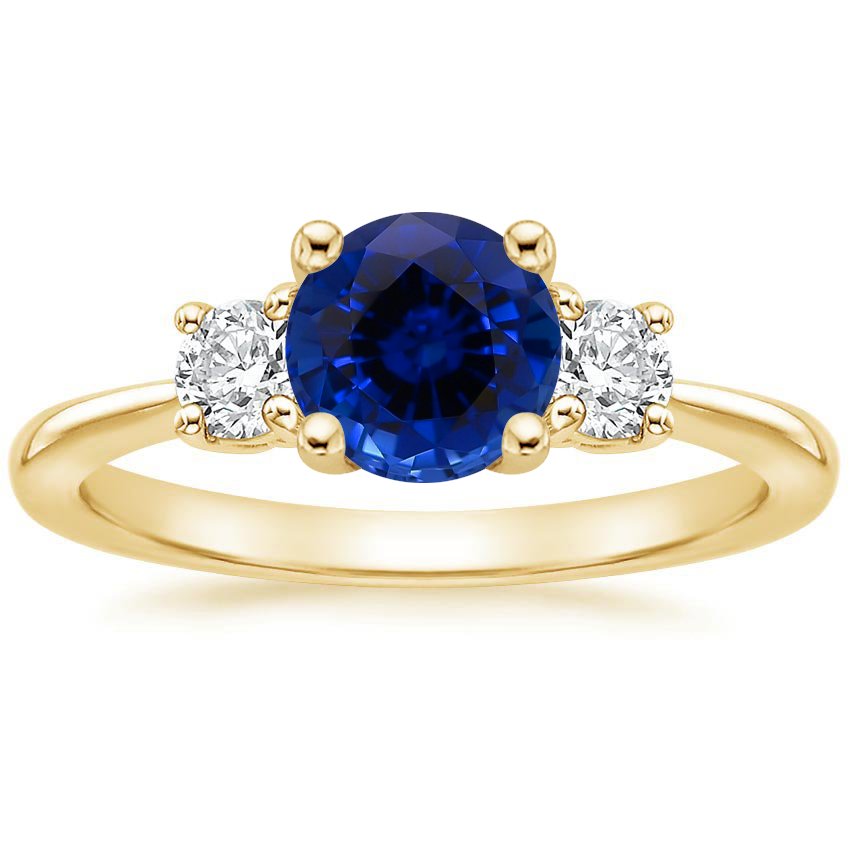 Yellow Gold Sapphire Serena Diamond Ring (1/3 ct. tw.)