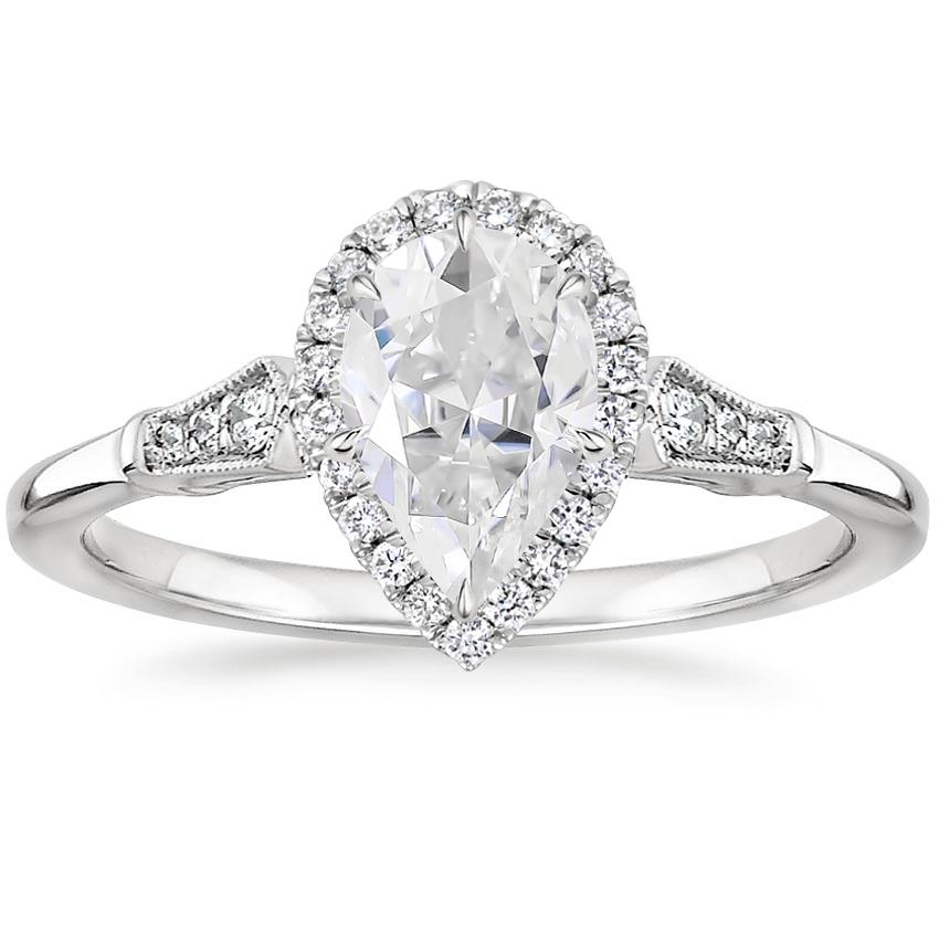 Moissanite Linden Diamond Ring in Platinum