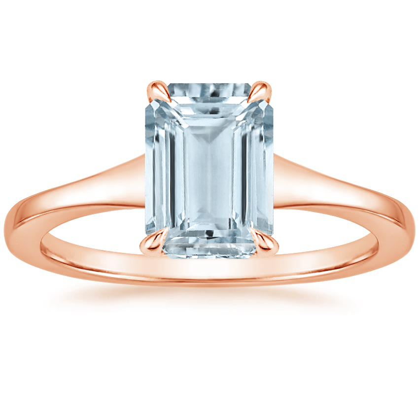 Rose Gold Aquamarine Muse Ring